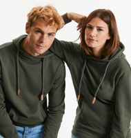 Russell Z209M Pure Organic High Collar Hooded Sweat