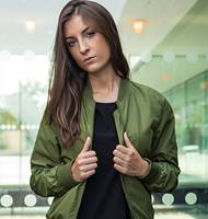 Build Your Brand Ladies Bomber Jacket