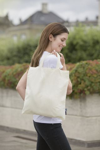 Neutral Shopping Bag - Short Handles